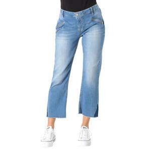 "Blue Fire             Jeans ""Emma"", Cropped Fit, Waschung, Fransen-Saum"