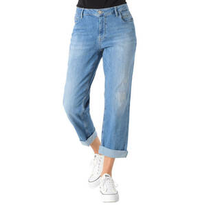 "Blue Fire             Jeans ""Olivia"", Relaxed Fit, Used-Look, Patches, Stickereien"