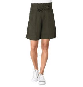 s.Oliver Black Label             Shorts, Binde-Gürtel, Eingrifftaschen, Leinen-Anteil