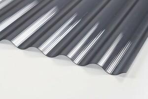 guttagliss PC Wellplatte anthrazit gerillt ,  unzerbrechlich, 3000 x 900 mm, 1,4 mm