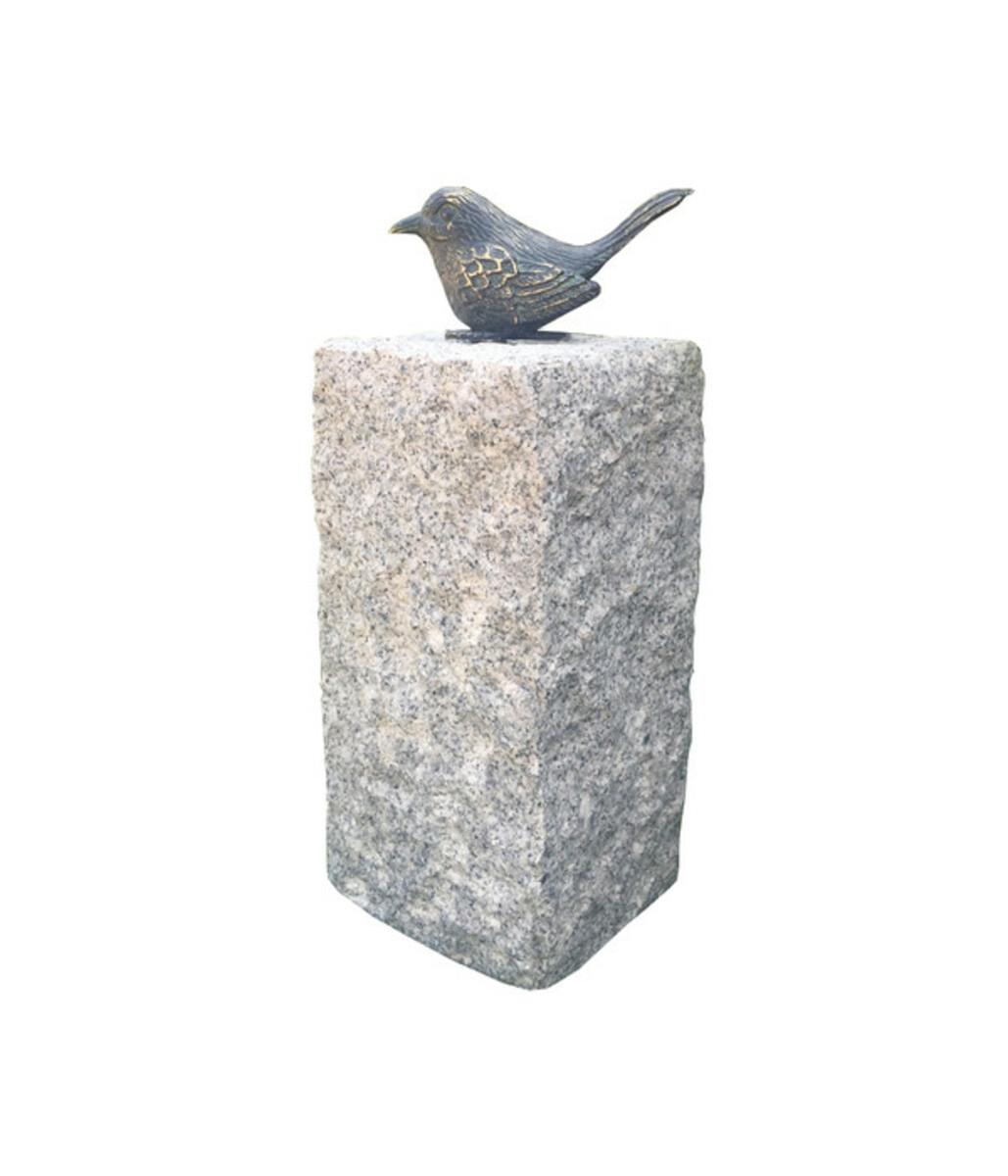 Bild 1 von Dehner Granit-Säule mit Bronze-Vogel, 12 x 12 x 35 cm