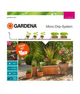 GARDENA Micro-Drip-System Start-Set Pflanztöpfe M