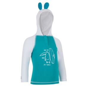 UV-Shirt UV-Top 100 mit Kapuze Baby türkis