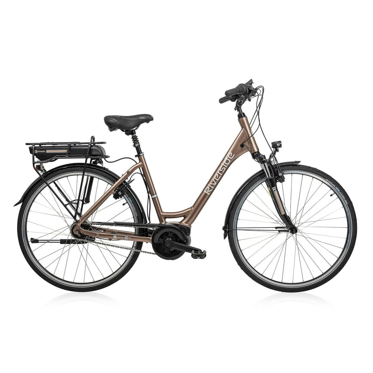 Bild 1 von E-Bike 28 Riverside City Nexus 8 Active Plus 400 Wh Rücktritt braunmetallic