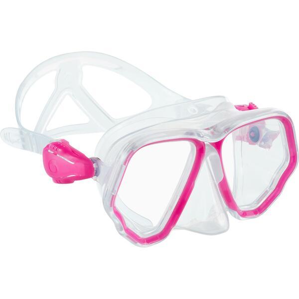Tauchmaske SCD 500 für Gerätetauchen cristal/rosa Zweiglas/Bi-Glas Tauchermaske