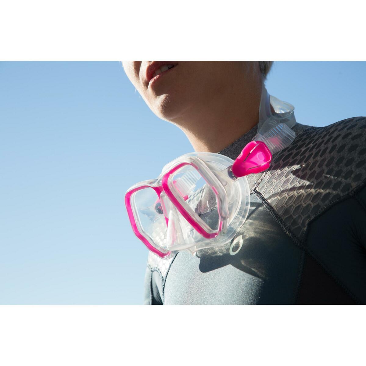 Bild 2 von Tauchmaske SCD 500 für Gerätetauchen cristal/rosa Zweiglas/Bi-Glas Tauchermaske