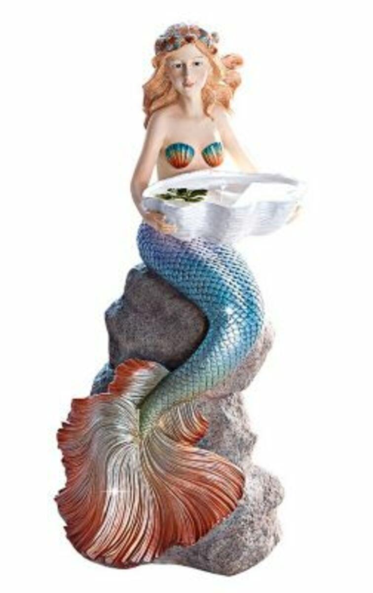 """Bild 1 von Dekofigur """"Meerjungfrau"""" mit Schale"""
