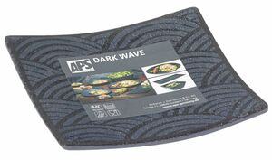 Tablett Dark Wave Standard 14x14 cm Schwarz