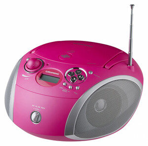 Grundig CD-Player GDP6410, pink