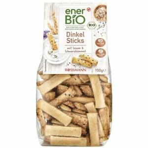 enerBiO Dinkel Sticks Sesam & Schwarzkümmel 0.90 EUR/100 g