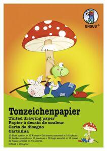 Tonzeichenpapier DIN A4 - 20 Blatt in 10 Farben