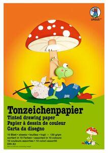 Tonzeichenpapier DIN A3 - 10 Blatt in 10 Farben