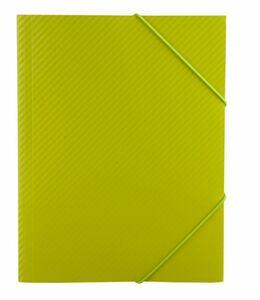Sammelmappe/ Eckspanner DIN A3 - Carbon Design - Grün