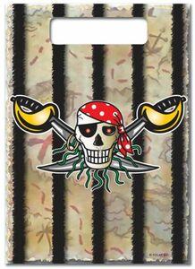 8 Partytüten - Pirat - 25 x 17,5 cm