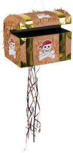 Piñata Schatztruhe - aus Papier - 30 x 26 cm