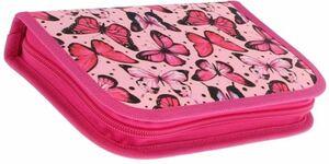 Federmäppchen - Motiv pinker Schmetterling - 50teilig