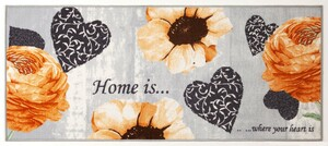 Bella Casa XL-Designläufer, ca. 80 x 190 cm Black, Home is... where your heart is