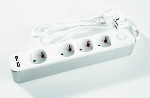 Powertec Electric Clevere 4-fach Steckdose mit Schalter