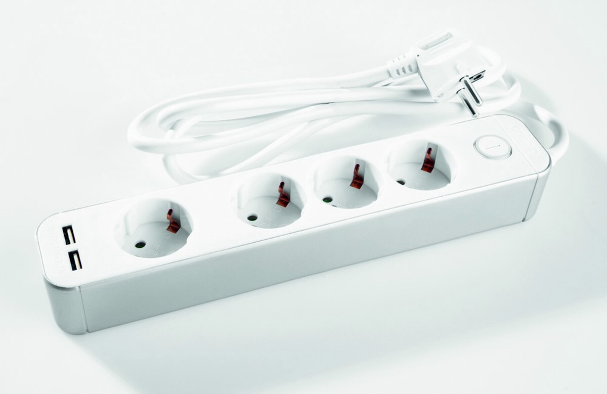 Bild 1 von Powertec Electric Clevere 4-fach Steckdose mit Schalter