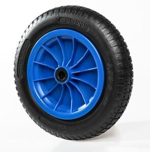"""Kraft Werkzeuge Schubkarrenrad """"pannensicher"""", Rad schwarz/ Felge blau"""