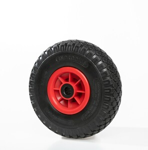 "Kraft Werkzeuge Sackkarrenrad ""pannensicher"", Rad schwarz/ Felge rot"