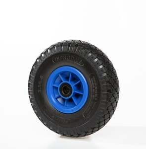 "Kraft Werkzeuge Sackkarrenrad ""pannensicher"", Rad schwarz/ Felge blau"