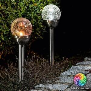 I-Glow LED Solar Gartenleuchte, 2er Set