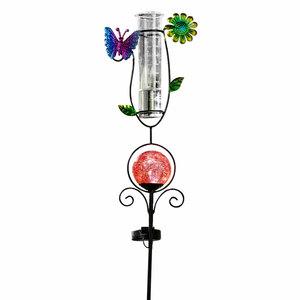 I-Glow LED Solar Stecker mit Regenmesser, Schmetterling