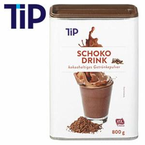 TIP Schokodrink kakaohaltiges Getränkepulver jede 800-g-Dose