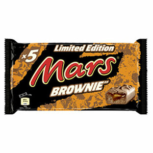 Mars Brownie 5er, jede 255-g-Packung