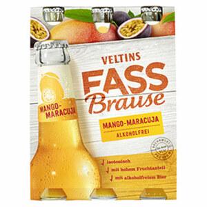 Veltins Fassbrause Zitrone, Holunder, Apfel-Kräuter oder Mango-Maracuja jede 6 x 0,33-Liter-Packung