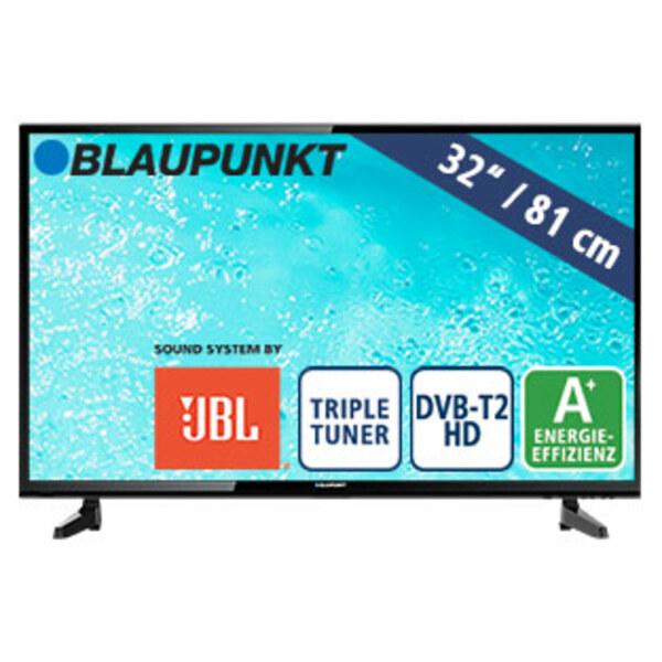 """32""""-LED-HD-TV BLA-32/133O • Auflösung 1.366 x 768 Pixel • 3 HDMI-/2 USB-Anschlüsse, CI+ • 2 x 10 Watt RMS • Stand-by: 0,5 Watt, Betrieb: 31 Watt • Maße: H 44,5 x B 73,9 x T 8,6 cm • En"""