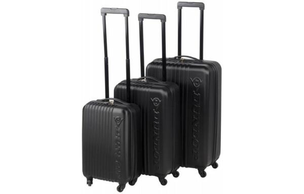 Dunlop Kofferset 3tlg. Trolley schwarz