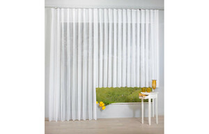 Fertig-Store Finnesse, weiß, ca. 145 x 300 cm