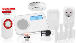 Prohome Sicherheitsset 8764, bestehend aus: Prohome Alarmsystem 8762 + Aussensirene 6109 + Rauchmelder 6114