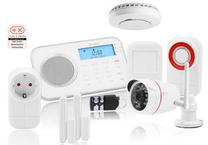 Prohome Sicherheitsset 8793, bestehend aus: Prohome Alarmsystem 8791 + Funksteckdose 6110 + Rauchmelder 6114