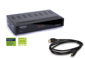 XORO HD-Receiver HRT8730, HDMI, DVB-C/DVB-T2, USB-Rekorder, Media-Player, Farbe: Schwarz