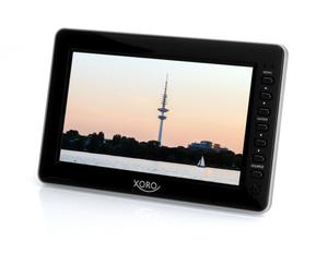 XORO Tragbarer Fernseher 17,78cm (7 Zoll) PTL700, DVB-T2, H265 HEVC, USB 2.0, MicroSD, Farbe: Schwarz