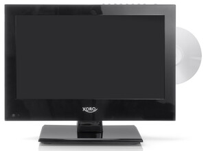 XORO FHD LCD Fernseher 33,78cm (13,3 Zoll), Triple Tuner, integrierter DVD Player, Farbe: Schwarz