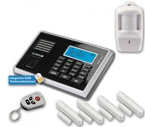 Olympia Protect 9061 Alarmanlage GSM Funk Set 1 x Bewegungsmelder 4 x Tür Fenster/Kontakte und Fernbedienung