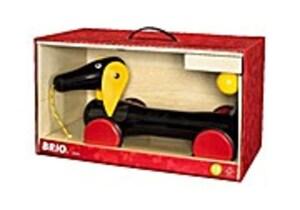 BRIO Großer Dackel, Nachziehspielzeug, Ziehspielzeug, Ziehtier, Holzspielzeug, Holz Spielzeug, 30334