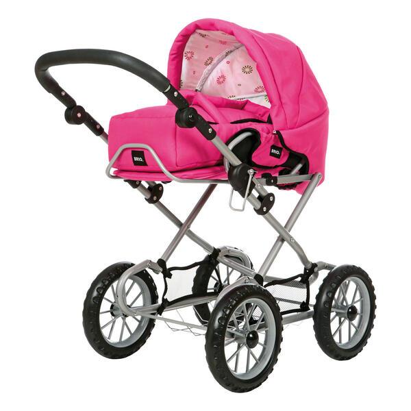 BRIO Puppenwagen Combi, Puppen Wagen, Buggy, Kinderwagen, Kombiwagen, Fuchsia, 24891309