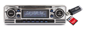Caliber Retro Autoradio Cd/Usb/Sd 1 Din Rcd120