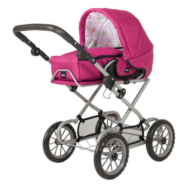 BRIO Puppenwagen Combi, Puppen Wagen, Buggy, Kinderwagen, Kombiwagen, Rose, 24891314