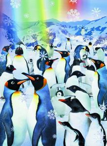 Noris Spiele Puzzle 500 tlg. mit 3D-Effekt Pinguine; 606031085