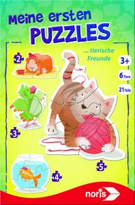Noris Spiele Meine ersten Puzzles - Tierische Freunde; 606031459