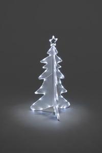 Konstsmide - LED Acryl Tannenbaum, 3D, mittel, 56 kalt weiße Dioden, 24V Außentrafo, transparentes Kabel ; 3921-203
