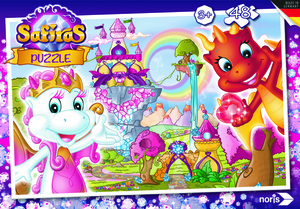 Noris Spiele Safiras - Tara und Draki Puzzle 48tlg.; 606031525