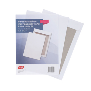 KODi Basic Versandtasche mit Papprückwand B4 3 Stück