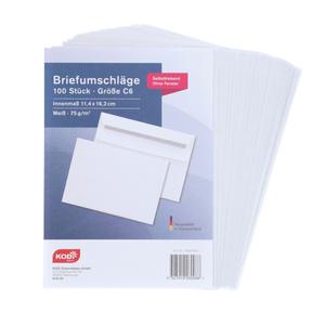 KODi Basic Briefumschläge C6 100 Stück